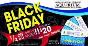 Austin Aquarium Black Friday Annual Pass Deal 1/2 OFF Discount Tickets