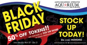 Austin Aquarium Black Friday Token Special 50% OFF