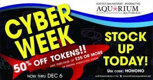 Austin Aquarium Cyber Week Monday 50% Off Tokens Animal Encounters