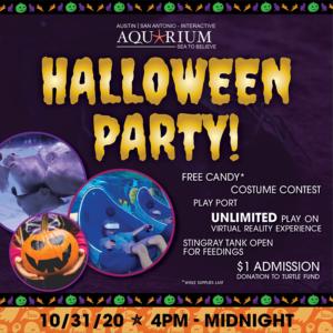 Austin Aquarium Halloween Party October 31 2020