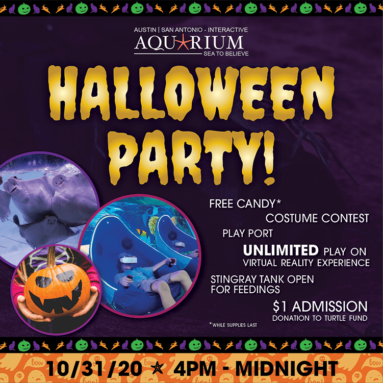 Austin Aquarium Halloween Party October 31 2020