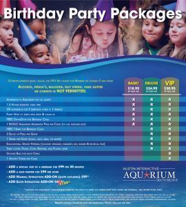 Austin Aquarium Birthday Party Planning Venue